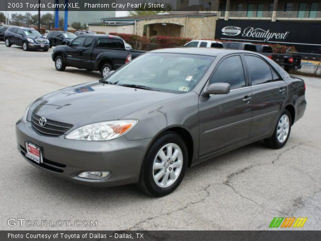 phantom gray pearl 2003 toyota camry xle stone interior vehicle archive. Black Bedroom Furniture Sets. Home Design Ideas