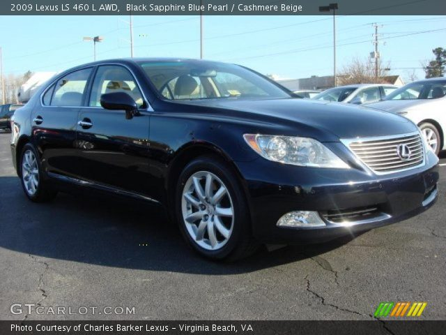 black sapphire blue pearl 2009 lexus ls 460 l awd. Black Bedroom Furniture Sets. Home Design Ideas