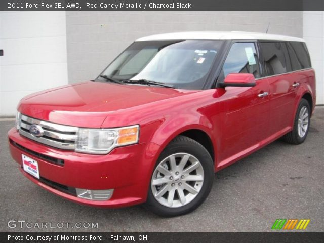 red candy metallic 2011 ford flex sel awd charcoal. Black Bedroom Furniture Sets. Home Design Ideas