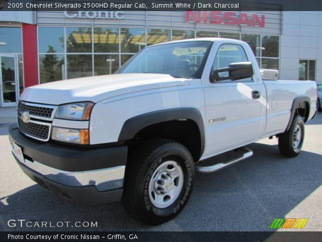 summit white 2005 chevrolet silverado 2500hd regular cab dark charcoal interior gtcarlot. Black Bedroom Furniture Sets. Home Design Ideas
