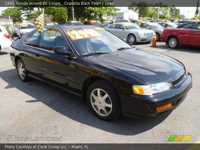 1995 Honda Accord EX Coupe in Granada Black Pearl