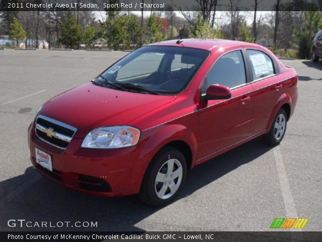 Sport Red  2011 Chevrolet Aveo LT Sedan  Charcoal Interior