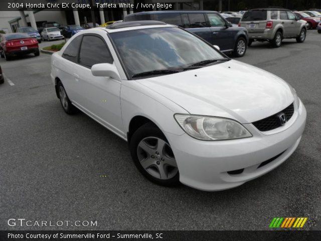 Taffeta white 2004 honda civic ex coupe ivory beige interior vehicle for 2004 honda civic ex coupe interior
