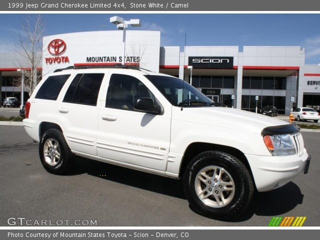 stone white 1999 jeep grand cherokee limited 4x4 camel interior vehicle. Black Bedroom Furniture Sets. Home Design Ideas
