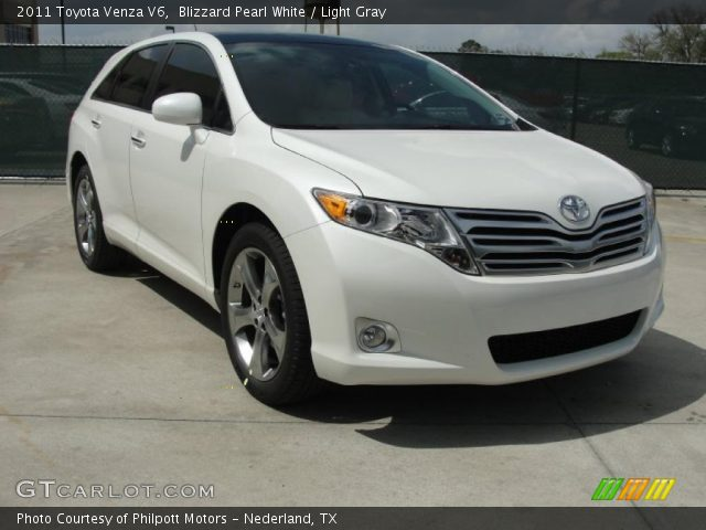 blizzard pearl white 2011 toyota venza v6 light gray. Black Bedroom Furniture Sets. Home Design Ideas