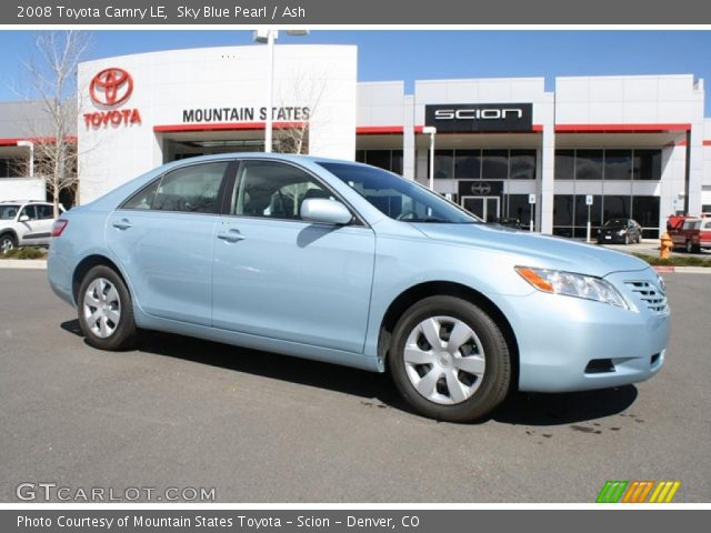 sky blue pearl 2008 toyota camry le ash interior vehicle archive 47057291. Black Bedroom Furniture Sets. Home Design Ideas
