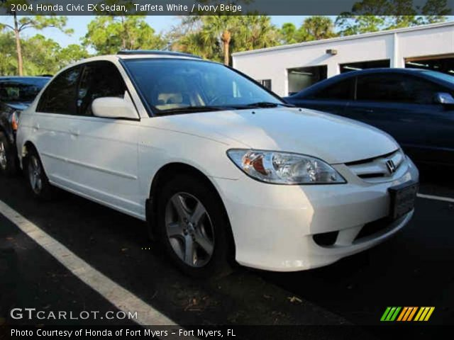 taffeta white 2004 honda civic ex sedan ivory beige