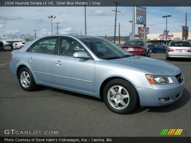 Silver Blue Metallic 2006 Hyundai Sonata Lx V6 Gray