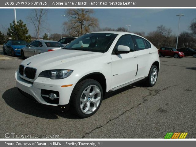 alpine white 2009 bmw x6 xdrive35i black perforated. Black Bedroom Furniture Sets. Home Design Ideas
