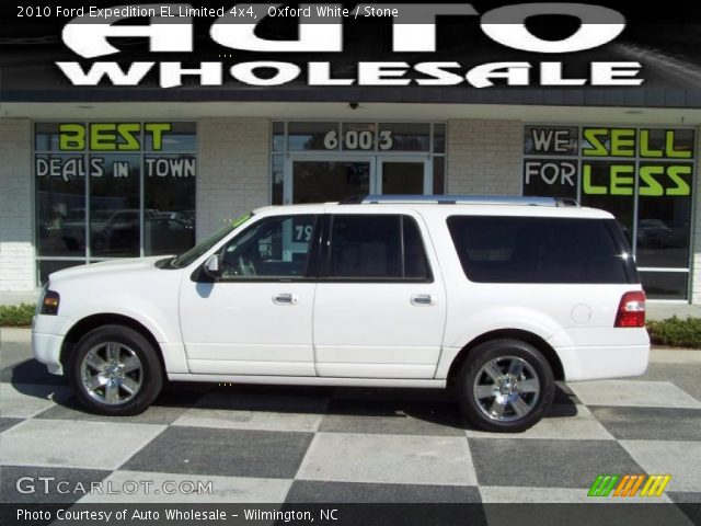 oxford white 2010 ford expedition el limited 4x4 stone interior vehicle. Black Bedroom Furniture Sets. Home Design Ideas