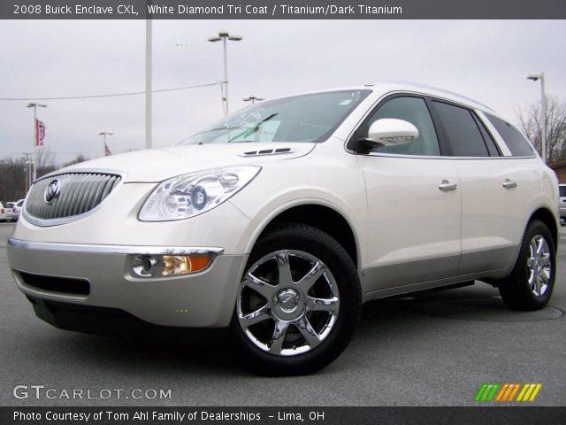 White Diamond Tri Coat 2008 Buick Enclave Cxl Titanium Dark Titanium Interior