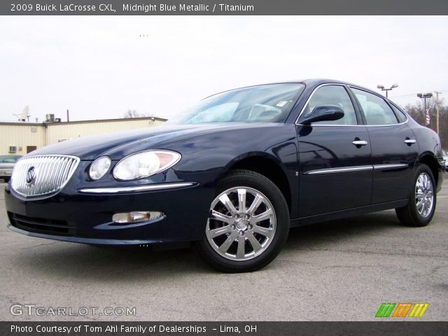 2009 Buick LaCrosse CXL in Midnight Blue Metallic. Click to see large ...