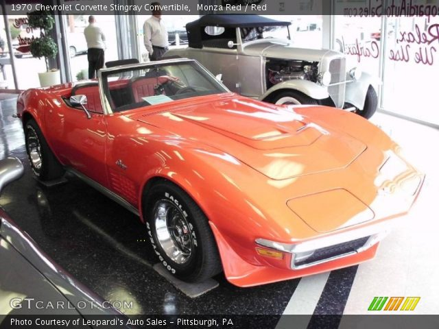 Chevrolet Corvette Stingray Convertible. Monza Red 1970 Chevrolet