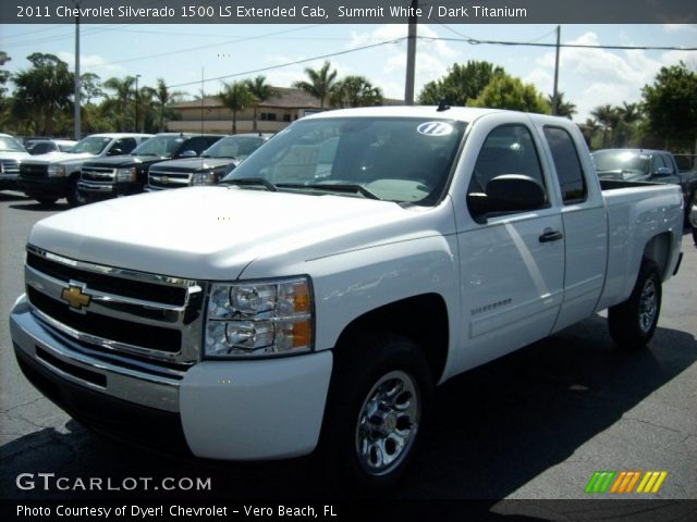 summit white 2011 chevrolet silverado 1500 ls extended. Black Bedroom Furniture Sets. Home Design Ideas