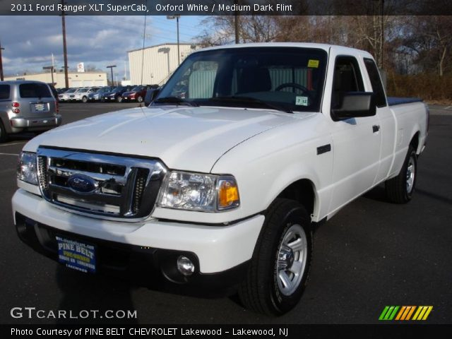 oxford white 2011 ford ranger xlt supercab medium dark. Black Bedroom Furniture Sets. Home Design Ideas