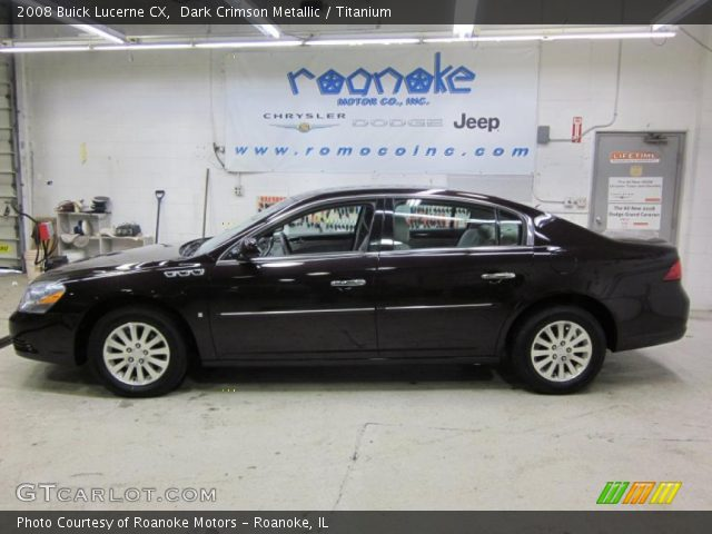 2008 Buick Lucerne CX in Dark Crimson Metallic. Click to see large ...
