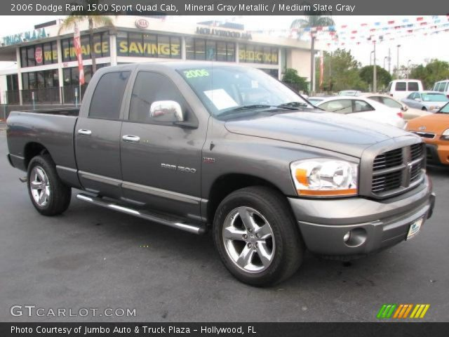 mineral gray metallic 2006 dodge ram 1500 sport quad cab medium slate gray interior. Black Bedroom Furniture Sets. Home Design Ideas