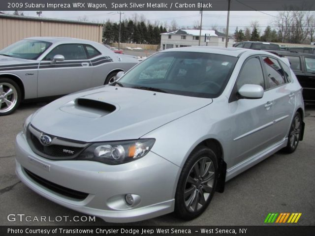 spark silver metallic 2009 subaru impreza wrx wagon carbon black interior. Black Bedroom Furniture Sets. Home Design Ideas