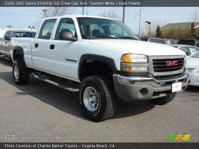 summit white 2006 gmc sierra 2500hd sle crew cab 4x4. Black Bedroom Furniture Sets. Home Design Ideas