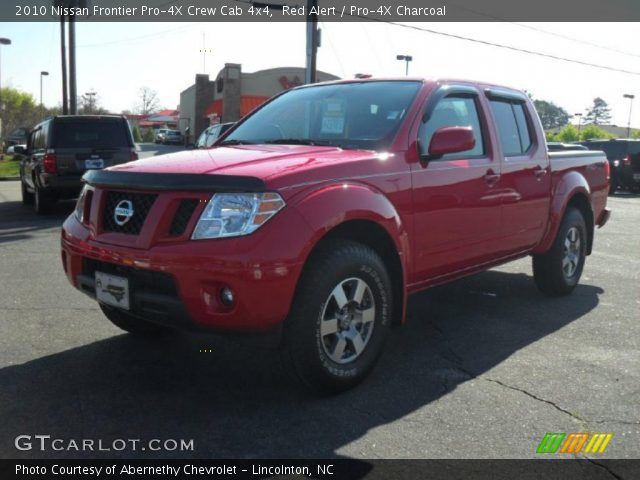 red alert 2010 nissan frontier pro 4x crew cab 4x4 pro 4x charcoal interior. Black Bedroom Furniture Sets. Home Design Ideas