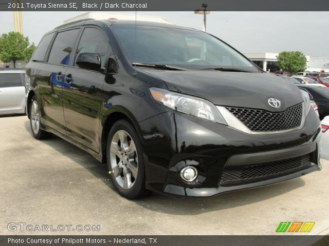black 2011 toyota sienna se dark charcoal interior. Black Bedroom Furniture Sets. Home Design Ideas