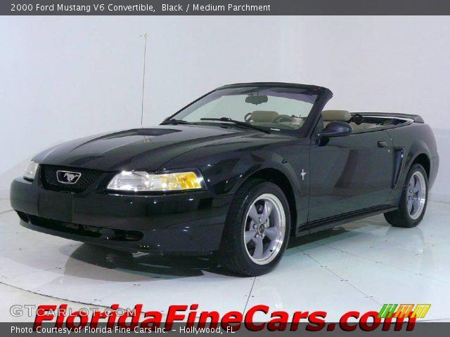 black 2000 ford mustang v6 convertible medium. Black Bedroom Furniture Sets. Home Design Ideas