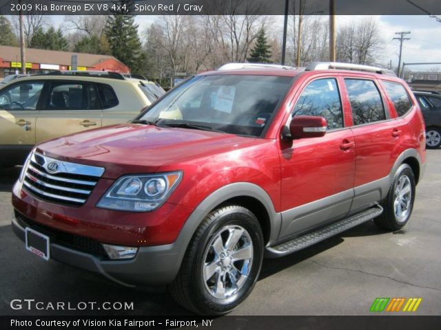 Spicy red 2009 kia borrego ex v8 4x4 gray interior gtcarlot 2009 kia borrego ex v8 4x4 in spicy red sciox Images