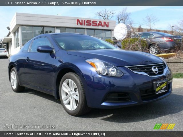 Navy Blue 2010 Nissan Altima 2 5 S Coupe Charcoal