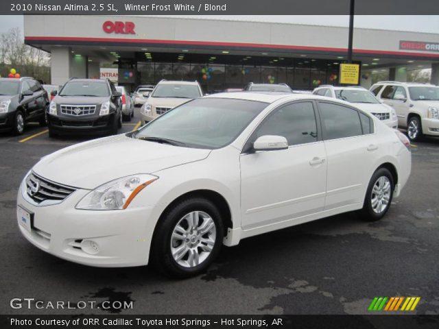 Winter Frost White 2010 Nissan Altima 2 5 Sl Blond