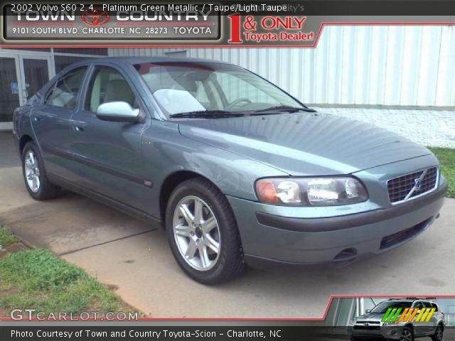 platinum green metallic 2002 volvo s60 2 4 taupe light. Black Bedroom Furniture Sets. Home Design Ideas