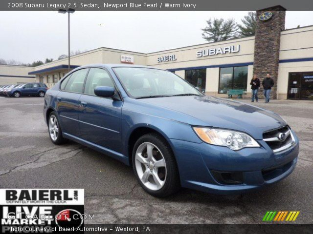 newport blue pearl 2008 subaru legacy sedan warm. Black Bedroom Furniture Sets. Home Design Ideas