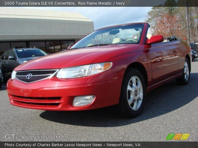 red flame metallic 2000 toyota solara sle v6 convertible. Black Bedroom Furniture Sets. Home Design Ideas