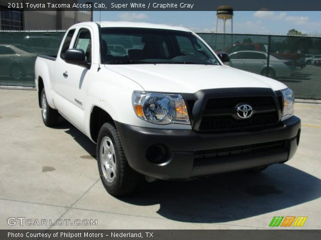 super white 2011 toyota tacoma access cab graphite gray interior vehicle. Black Bedroom Furniture Sets. Home Design Ideas