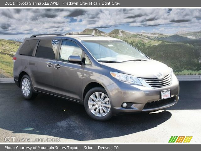Predawn Gray Mica - 2011 Toyota Sienna XLE AWD - Light Gray Interior ...