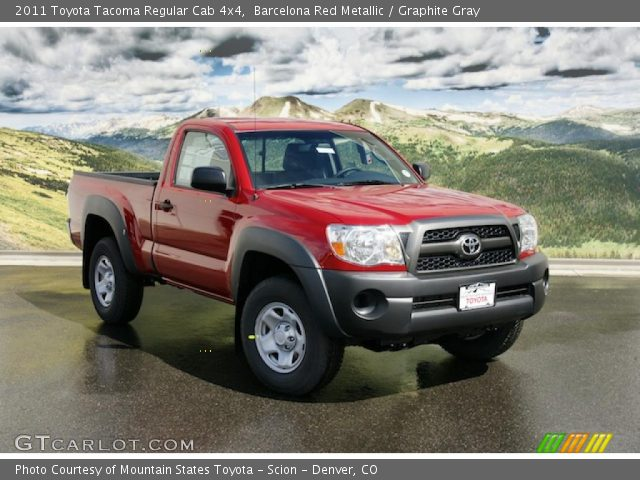 barcelona red metallic 2011 toyota tacoma regular cab 4x4 graphite gray interior gtcarlot. Black Bedroom Furniture Sets. Home Design Ideas