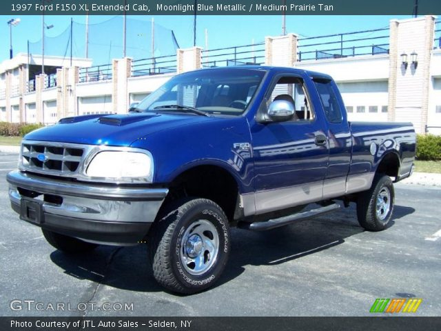 moonlight blue metallic 1997 ford f150 xl extended cab medium prairie tan interior. Black Bedroom Furniture Sets. Home Design Ideas