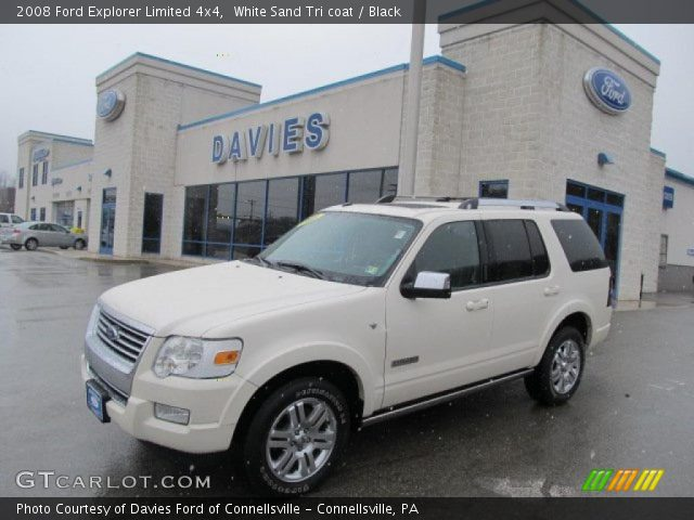 2008 ford explorer limited 4x4 in white sand tri coat