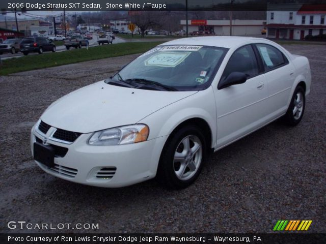 stone white 2006 dodge stratus sxt sedan taupe. Black Bedroom Furniture Sets. Home Design Ideas