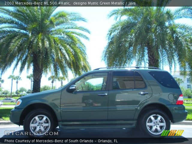 2003 Mercedes-Benz ML 500 4Matic in designo Mystic Green Metallic