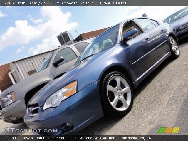 atlantic blue pearl 2006 subaru legacy 2 5 gt limited sedan taupe interior. Black Bedroom Furniture Sets. Home Design Ideas