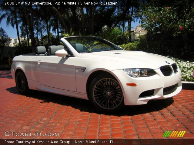 Alpine White 2008 Bmw M3 Convertible Silver Novillo Leather Interior