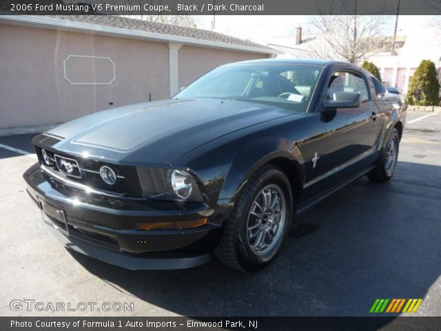 Black 2006 Ford Mustang V6 Premium Coupe Dark Charcoal