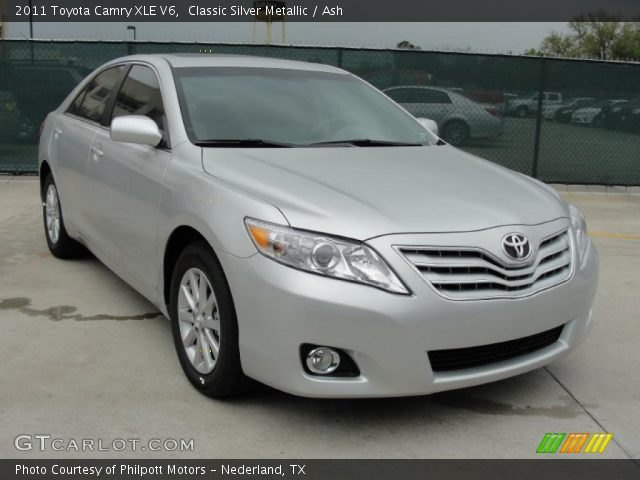 classic silver metallic 2011 toyota camry xle v6 ash. Black Bedroom Furniture Sets. Home Design Ideas