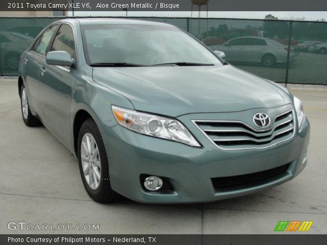 aloe green metallic 2011 toyota camry xle v6 bisque. Black Bedroom Furniture Sets. Home Design Ideas