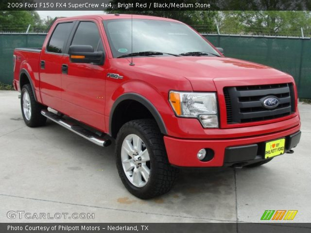 bright red 2009 ford f150 fx4 supercrew 4x4 black. Black Bedroom Furniture Sets. Home Design Ideas