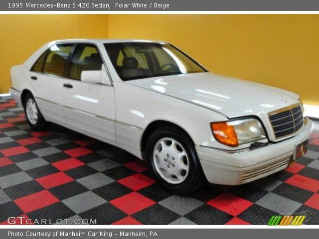 Polar white 1995 mercedes benz s 420 sedan beige for Mercedes benz s 420