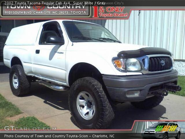 super white 2002 toyota tacoma regular cab 4x4 gray interior vehicle. Black Bedroom Furniture Sets. Home Design Ideas