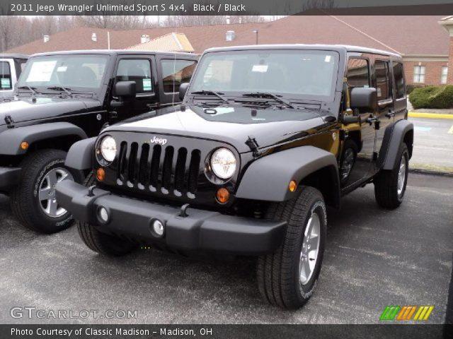 black 2011 jeep wrangler unlimited sport s 4x4 black interior vehicle. Black Bedroom Furniture Sets. Home Design Ideas