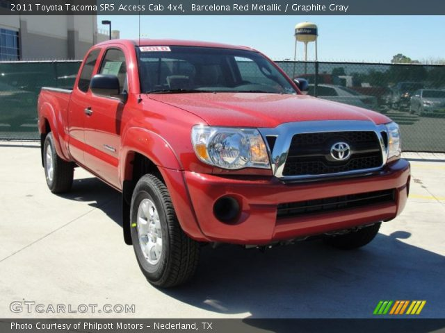 barcelona red metallic 2011 toyota tacoma sr5 access cab 4x4 graphite gray interior. Black Bedroom Furniture Sets. Home Design Ideas