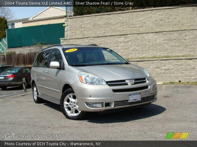 silver shadow pearl 2004 toyota sienna xle limited awd stone gray interior. Black Bedroom Furniture Sets. Home Design Ideas